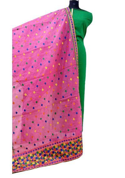 Pink - Phulkari Dupatta