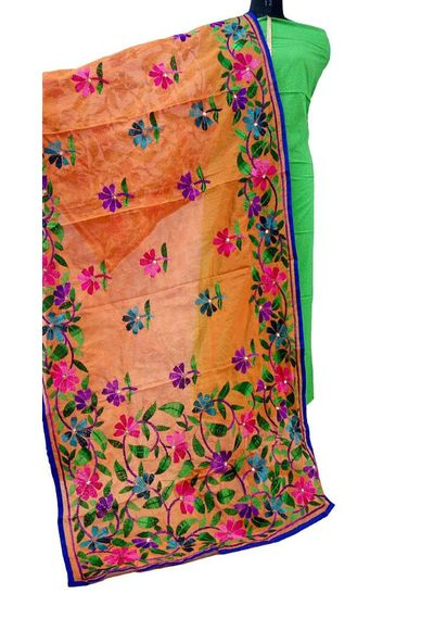 Orange - Phulkari Dupatta
