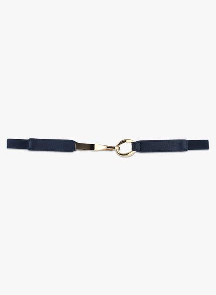 Kazo Navy Belt with Metal Clasp