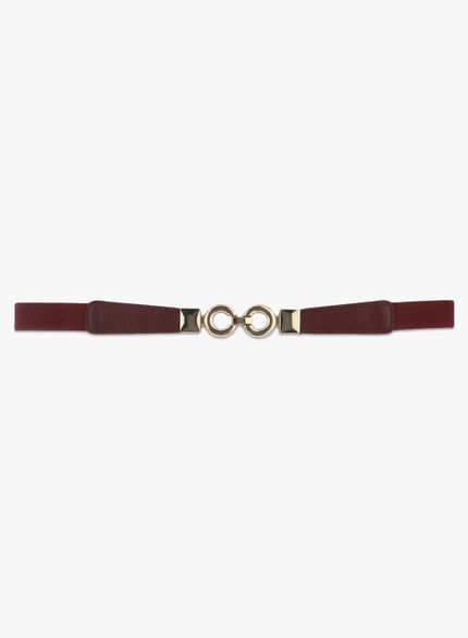 Kazo Brown Belt with Golden Clasp