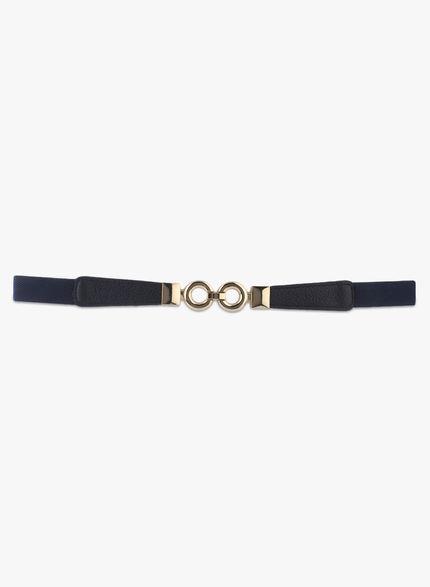 Kazo Navy Belt with Golden Clasp