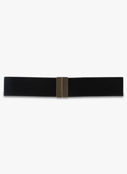 Kazo Black Elastane Belt