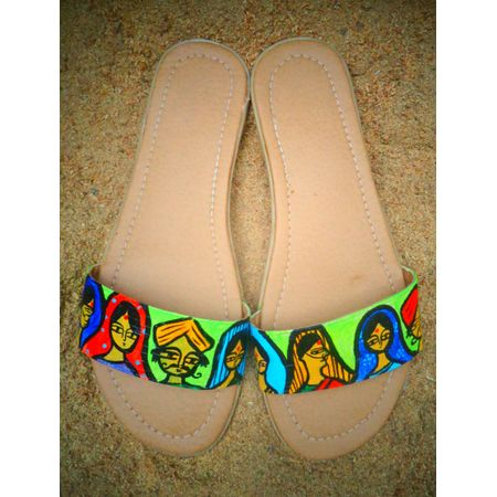 ETHNIC LADY SLIDER SANDALS
