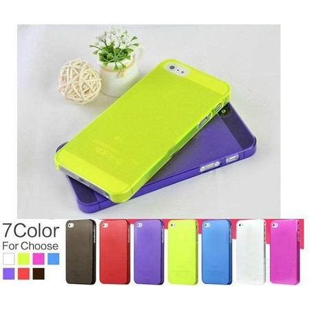 - Ultrathin 0.5 mm Cases Transparency Crystal Clear Hard Back Case Cover For iphone