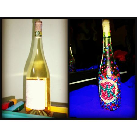 bedazzled wine bottle for any occasion