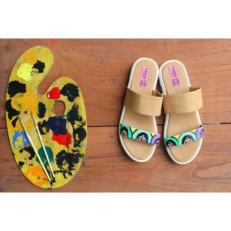 beige ethnic sandals