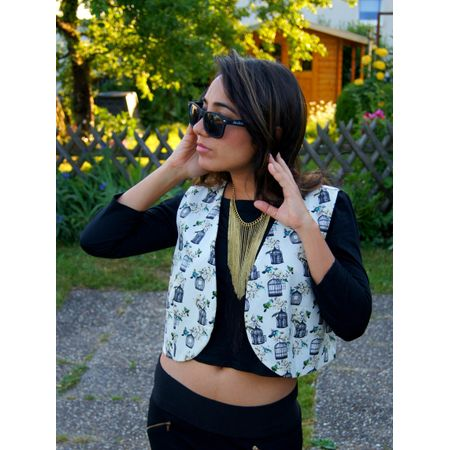 Cage print jacket