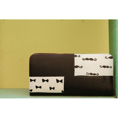 white and black wallet
