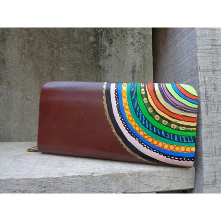 ethnic swirl wallet