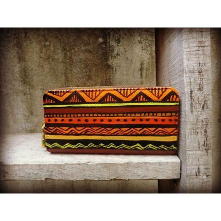 orange aztec wallet