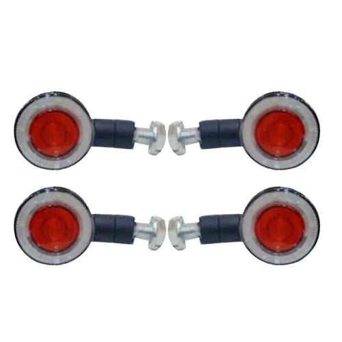 Speedy Riders LED Black Universal Motorcycle Bike LED Bulb Blinkers Turn Signal Indicator Set of 4
