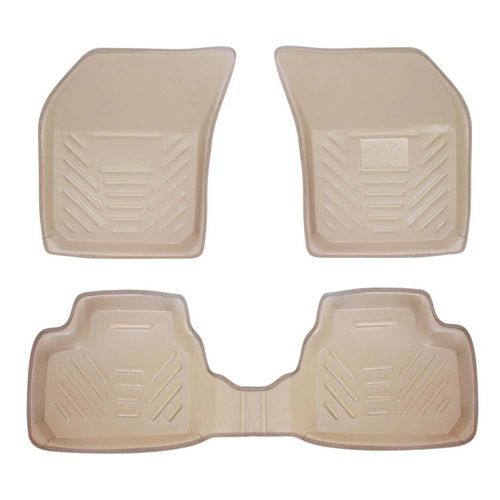 Speedy Riders SET OF 5 Premium Perfect Fit Car 3D Car Floor Mats BEIGE for All Cars
