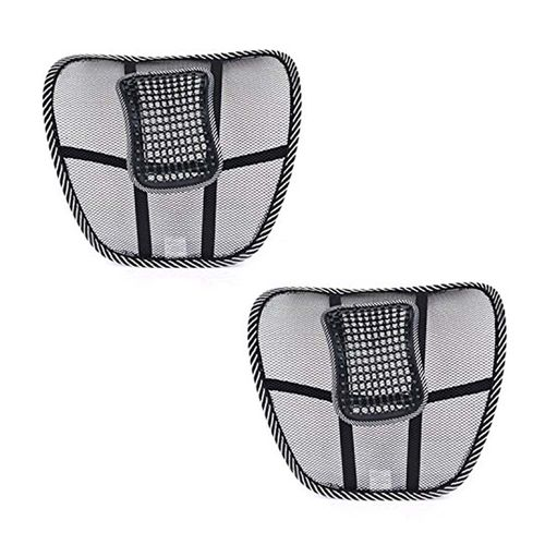 Speedy Riders Pair Car Back Rest Lumber Support BLACK Color for All Cars