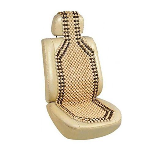 Speedy Riders Car Wooden Bead Seat Acupressure Design Universal Size for All Cars