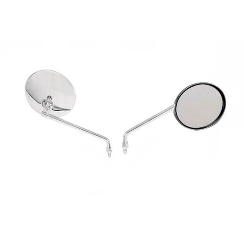 Speedy Riders Chrome Rear View Mirrors Set of 2 for Royal Enfield