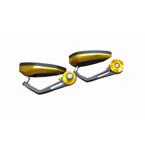 Speedy Rider Handle Bar End Mirror Rear View Mirror Oval Golden & Black Color for Royal Enfield