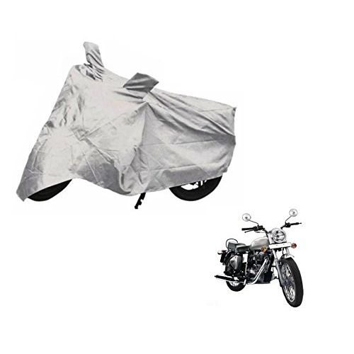 Speedy Riders Bike Silver Body Cover With Side Mirror Pocket For All Bikes