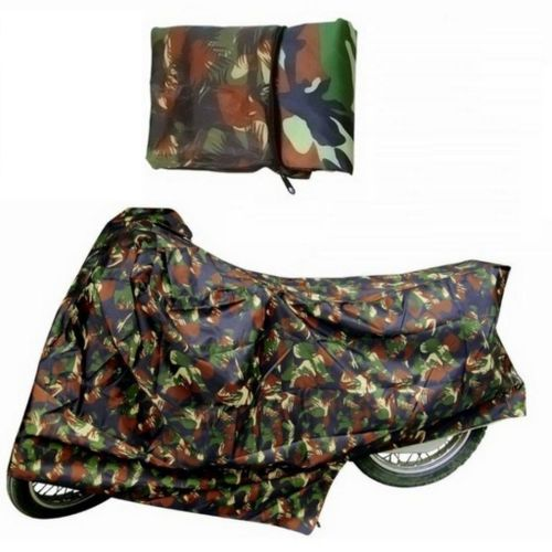 Speedy Riders Bike Military Green Design Body Cover With Side Mirror Pocket For All Bikes