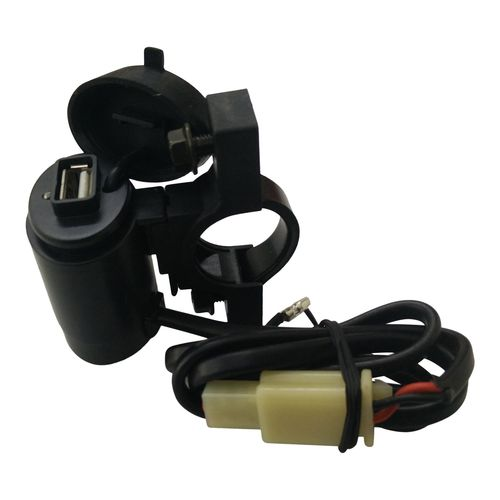 Waterproof Motorcycle Black Color USB Mobile Charger For All Bikes