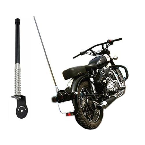 Speedy Riders Decorative Motorcycle Antenna Big Size (L*71CM) Black Color For All Bike and Car