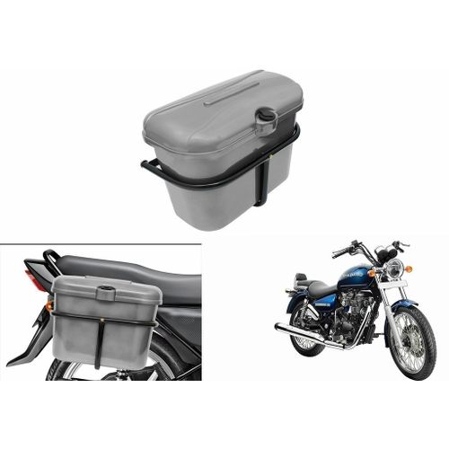 Speedy Riders Bike Side Luggage Box Silver For All Bikes
