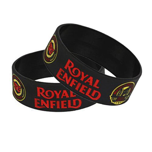 Speedy Riders Royal Enfield Pair Wrist Band Black Color