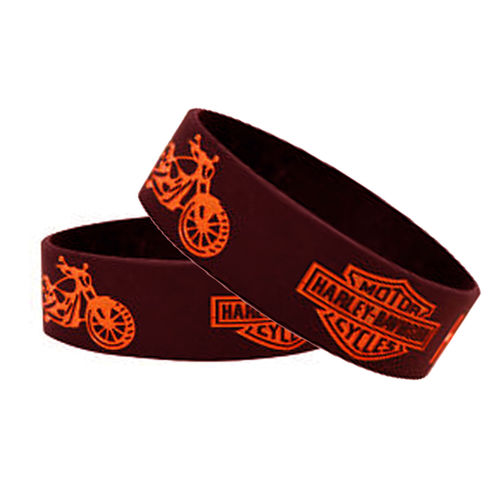 Speedy Riders Harley Davidson Wrist Band Black Color