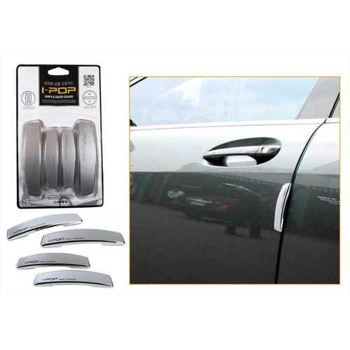 Speedy Riders i-pop Simple Silver Car Door Scratch Guard Protector ipop For All Cars