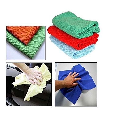 Speedy Riders Multi Purpose and Color Microfiber Dry Wet Cleaning Polishing Cloth For All Cars