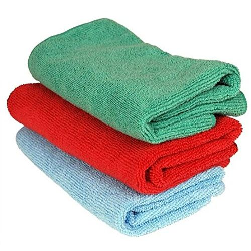 Speedy Riders Multi Purpose and Color Microfiber Dry Wet Cleaning Polishing Cloth Set of 3 For All Cars