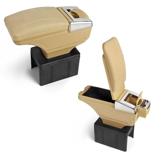 Speedy Riders Car Stylish Armrest with Glass Holder+Ashtray Beige For All Cars