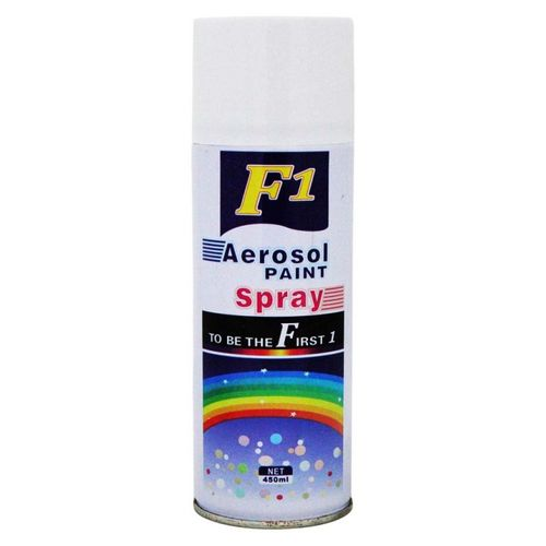 F1 Car Touchup Spray Paint 450ml White Color