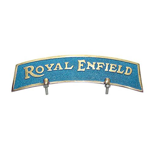 Speedy riders Brass Blue & Golden Front Mudguard Fender Plate For Royal Enfield