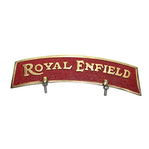 Speedy riders Brass Red & Golden Front Mudguard Fender Plate For Royal Enfield