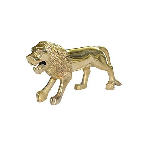 Speedy riders Brass Standing Lion Front Mudguard Fender Plate For Royal Enfield