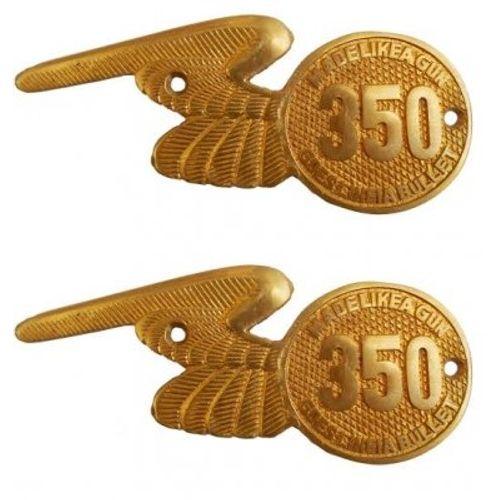 Speedy riders Pair Brass Made Tool Box Monogram 350 For Royal Enfield