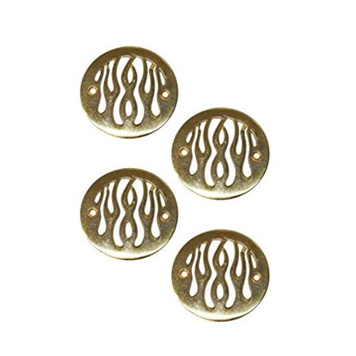 Speedy riders Golden Flame Indicator Cover Set of 4 For Royal Enfield