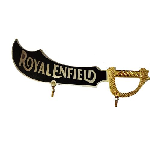 Speedy riders Brass Sword Front Mudguard Fender Plate For Royal Enfield