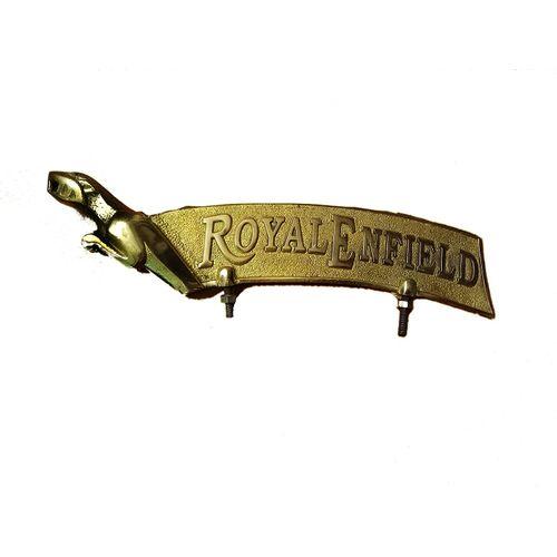 Speedy riders Brass Jaguar Front Mudguard Fender Plate For Royal Enfield