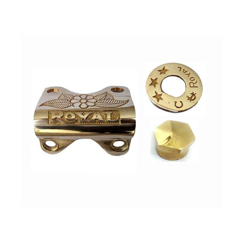Speedy riders Handle Bar Clip with Ignition Switch Plate with Stem Lock Nut For Royal Enfield