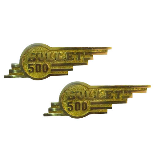 Speedy riders Brass Pair Tool Box Emblem For Bullet 500 Royal Enfield
