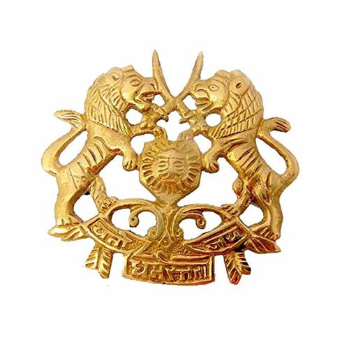 Speedy riders Brass Sword Lion Army Emblem Badge For Royal Enfield