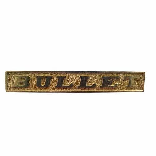 Speedy riders Brass Front Old Style Bullet Embrossed Number Plate For Royal Enfield