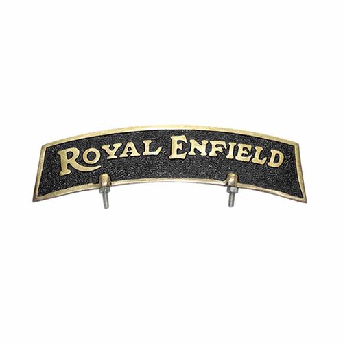 Speedy riders Golden Brass Black & Golden Front Fender Plate For Royal Enfield