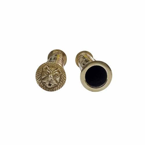 Speedy riders Brass Customized Handle Grip with Lion Face For Royal Enfield