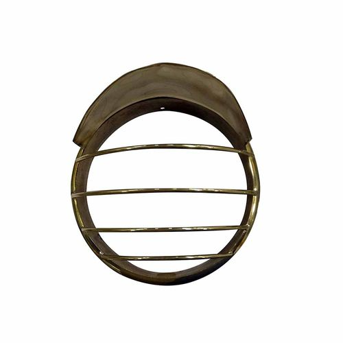Speedy riders Customized Brass Inner Outer Headlight Grill with Cap For Royal Enfield