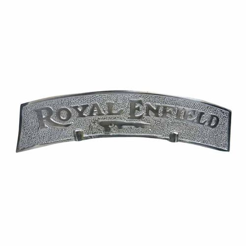 Speedy riders Premium Quality Chrome Plate RE Number Plate for Front Fender / Mudguard for Royal Enfield