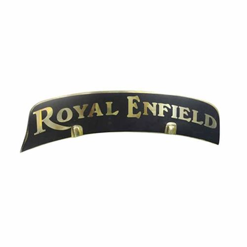 Speedy riders Premium Quality  Brass Royal Enfield Black Number Plate for Front Fender / Mudguard for Royal Enfield