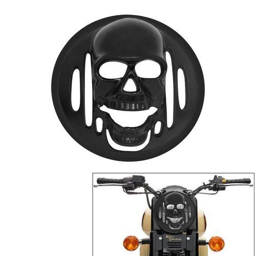 Speedy Riders Skull Face Headlight Grill For Royal Enfield