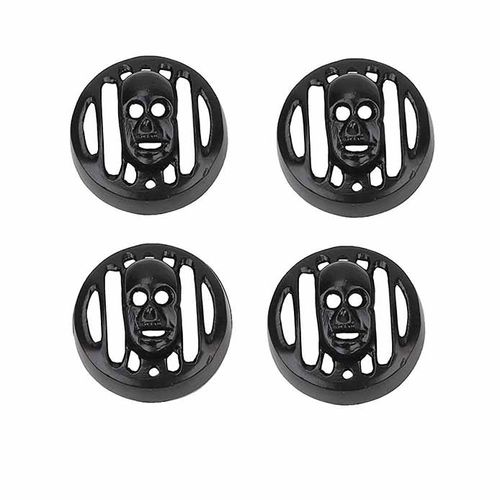 Speedy Riders Set of 4 skull Face Indicator Grill For Royal Enfield